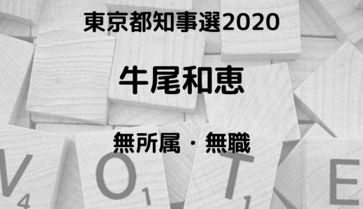 牛尾和恵(東京都知事選挙2020)は結婚している?学歴や職業は?