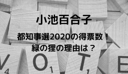 小池百合子の都知事選2020の得票数は?緑の狸と言われる理由は?