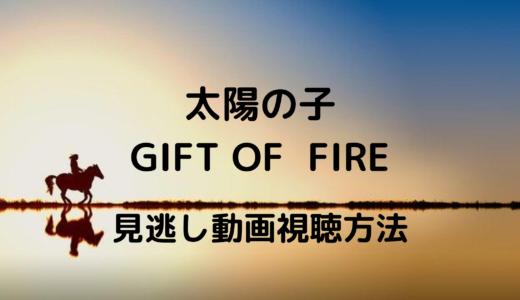 太陽の子GIFT OF  FIRE(ドラマ)の再放送や見逃し動画はある?三浦春馬の遺作