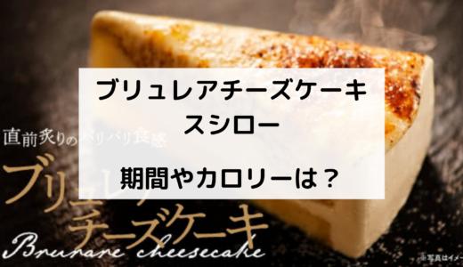 ブリュレアチーズケーキ/スシローはいつからいつまで ?カロリーも!