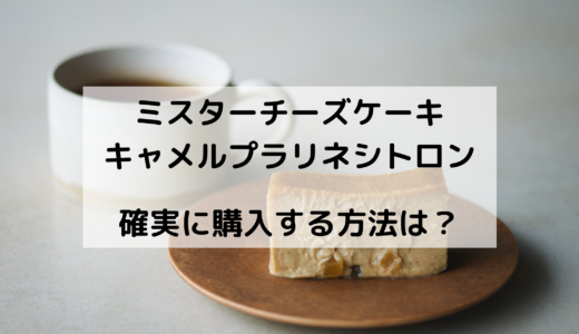 ミスターチーズケーキキャメルプラリネシトロンを確実に購入する方法は?